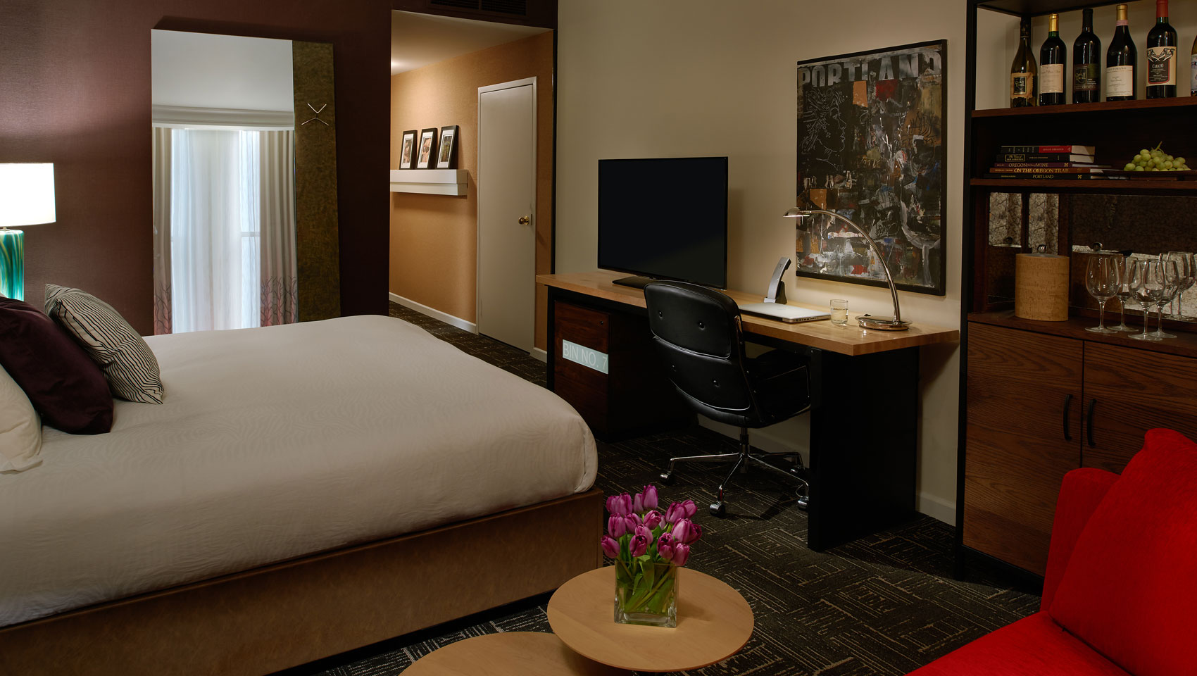 downtown portland boutique hotel rooms| vintage portland