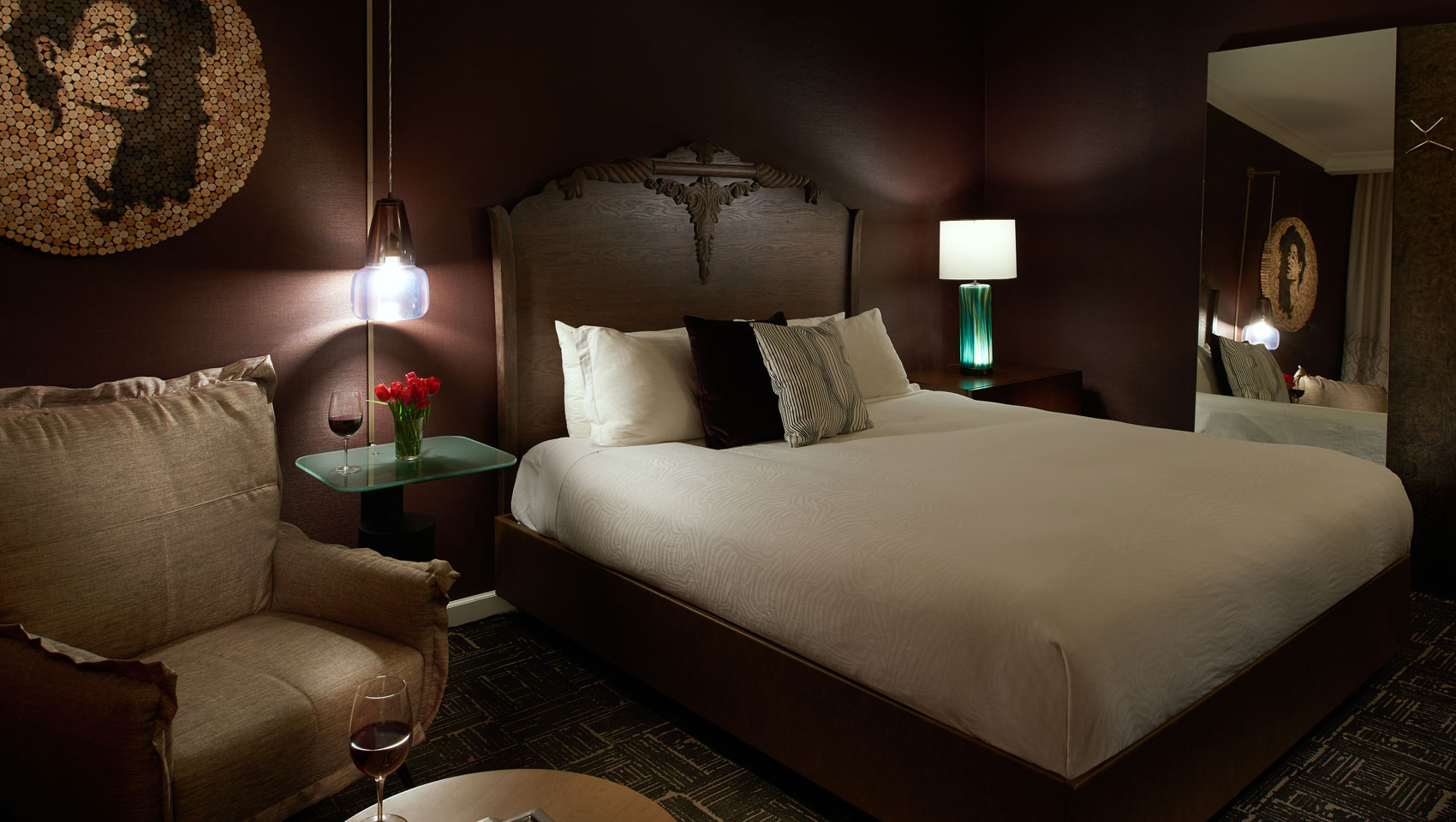 spacious guestrooms at Kimpton Hotel Vintage Portland