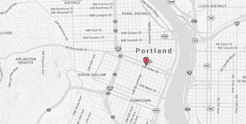 Downtown Portland Hotel Map Kimpton Hotel Vintage Portland - Google maps oregon